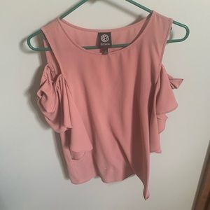 Babeau dusty pink cut out top